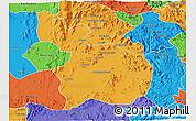 Political 3D Map of Mensura