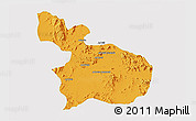 Political 3D Map of Mensura, single color outside