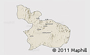 Shaded Relief 3D Map of Mensura, cropped outside