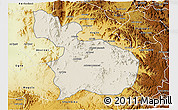 Shaded Relief 3D Map of Mensura, physical outside