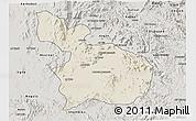 Shaded Relief 3D Map of Mensura, semi-desaturated