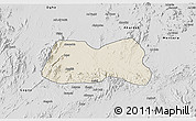 Shaded Relief 3D Map of Mogolo, desaturated
