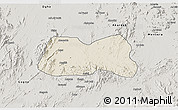 Shaded Relief 3D Map of Mogolo, semi-desaturated