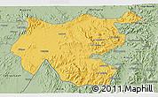 Savanna Style 3D Map of Shambiko