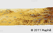 Physical Panoramic Map of Shambiko