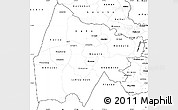 Blank Simple Map of Gash-Barka