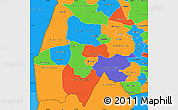 Political Simple Map of Gash-Barka