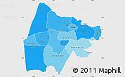 Political Shades Simple Map of Gash-Barka, single color outside