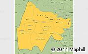 Savanna Style Simple Map of Gash-Barka
