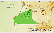 Political 3D Map of Teseney, physical outside