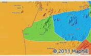 Political 3D Map of Teseney