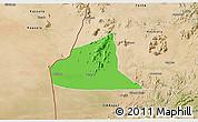 Political 3D Map of Teseney, satellite outside