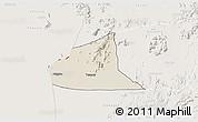 Shaded Relief 3D Map of Teseney, lighten