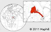 Blank Location Map of Eritrea