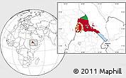 Flag Location Map of Eritrea, blank outside