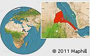 Satellite Location Map of Eritrea