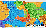 Political 3D Map of Makelay