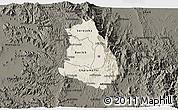 Shaded Relief 3D Map of Makelay, darken