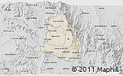 Shaded Relief 3D Map of Makelay, desaturated