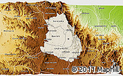 Shaded Relief 3D Map of Makelay, physical outside