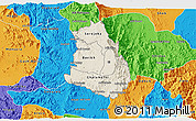 Shaded Relief 3D Map of Makelay, political outside