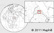 Blank Location Map of Asmara City