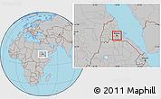 Gray Location Map of Asmara City