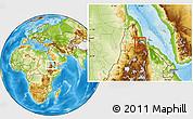 Physical Location Map of Asmara City