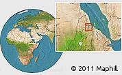 Satellite Location Map of Asmara City