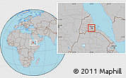Gray Location Map of Berikh