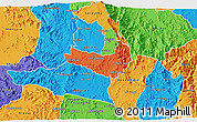 Political 3D Map of Ghala Nefhi