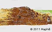 Physical Panoramic Map of Ghala Nefhi