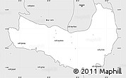 Silver Style Simple Map of Ghala Nefhi