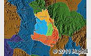 Political Map of Makelay, darken