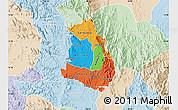 Political Map of Makelay, lighten