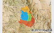 Political Map of Makelay, satellite outside