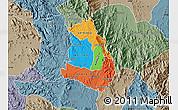 Political Map of Makelay, semi-desaturated