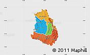 Political Map of Makelay, single color outside