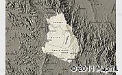 Shaded Relief Map of Makelay, darken