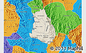Shaded Relief Map of Makelay, political outside