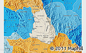 Shaded Relief Map of Makelay, political shades outside