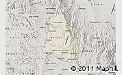 Shaded Relief Map of Makelay, semi-desaturated