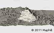 Shaded Relief Panoramic Map of Makelay, darken