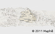 Shaded Relief Panoramic Map of Makelay, lighten