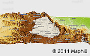 Shaded Relief Panoramic Map of Makelay, physical outside
