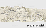 Shaded Relief Panoramic Map of Makelay