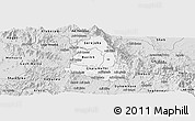 Silver Style Panoramic Map of Makelay