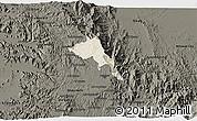 Shaded Relief 3D Map of Serejeka, darken