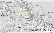 Shaded Relief 3D Map of Serejeka, desaturated