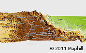 Physical Panoramic Map of Serejeka